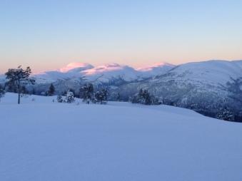 Sol på toppene i Trollheimen